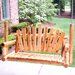 Moon Valley Rustic Porch Swing
