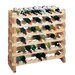 Country Pine 9 Bottle Wine Rack