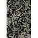 Dalyn Rug Co. Structures Black Floral Rug