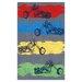 Wildon Home ® Motocross Grey Kids Rug