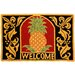 <strong>Welcome Pineapple Rug</strong> by Homefires