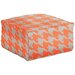<strong>Surya</strong> Heavenly Houndstooth Pouf Ottoman