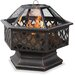 Bronze Outdoor Firebowl with Lattice