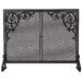 1 Panel Olde World Iron Fireplace Screen
