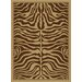 China Garden Brown Zebra Rug