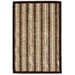 Anji Mountain Hamptons Driftwood Brown/Tan Striped Area Rug