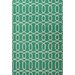 Urban Bungalow Geometric Green/Ivory Rug