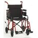 "GO! Mobility Comet 19"" Lightweight Bariatric Transport Wheelchair with Removable Desk Arms"