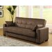 Casual Convertible Microsuede Storage Sofa