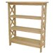 "<strong>Unfinished Wood 36"" Bookcase</strong> by International Concepts"
