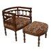 Carolina Accents Savannah Fabric Arm Chair