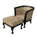 Carolina Accents Biedermeier Chair and Ottoman