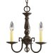Americana 3 Light Mini Candle Chandelier