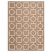 <strong>Safavieh</strong> Courtyard Brown / Bone Outdoor Rug
