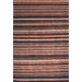 <strong>Tibetan Black/Blue Stripes Rug</strong> by Safavieh