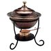 <strong>Old Dutch International</strong> Round Antique Copper Chafing Dish