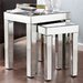 Bacall Mirrored Accent 2 Piece Nesting Table