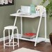 <strong>Wildon Home ®</strong> Jennings 2 Piece Writing Desk and Stool Set