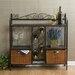 Scrolled Bakers Rack w/ Wine Storage in Gunmetal Gray by Wildon Home ®