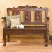 Vernon Handcarved Wood Entryway Storage Bench