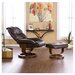 <strong>Wildon Home ®</strong> Dawn Leather Ergonomic Recliner and Ottoman
