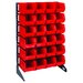 <strong>Single Sided Steel Rail Rack with Bins (Complete Package)</strong> by Quantum Storage