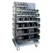 Conductive Mobile Double Sided Louvered Rack