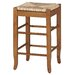 "24"" Rush Seat Counter Stool in Oak"