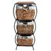 <strong>Pangaea Home and Garden</strong> Seagrass Rattan 3 Drawer Basket Storage Cabinet