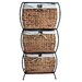 Rattan Three Drawer File Cabinet