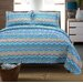 Simple Luxury Zig Zag 100 Cotton 3 Piece Quilt Set