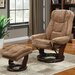 <strong>Primo International</strong> Swivel Chair and Ottoman