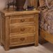 Lodge 100 3 Drawer Nightstand