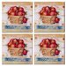 Tuftop Apple Basket Coasters