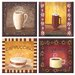<strong>McGowan</strong> Tuftop Coffee Time Coasters (Set of 4)