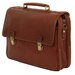 <strong>Troy Leather Laptop Briefcase</strong> by Dr. Koffer Fine Leather Accessories