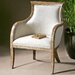 Uttermost Quintus Linen Arm Chair