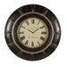 Rudy Wall Clock in Rustic Black