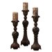 <strong>Rosina Carved Candlesticks (Set of 3)</strong> by Uttermost