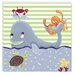 <strong>Sea Life Whale of a Tale Giclee Canvas Art</strong> by Doodlefish