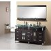 Rocco 61&quot; Double Sink Bathroom Vanity Set in Espresso
