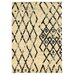 <strong>Moroccan Marrakesh Ivory/Black</strong> by Linon Rugs