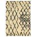 Linon Rugs Moroccan Marrakesh Ivory/Black