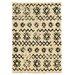 Linon Rugs Moroccan Mekenes Ivory/Black Rug