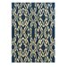 <strong>Le Soleil Navy/Ivory Outdoor Rug</strong> by Linon Rugs