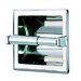 <strong>Standard Hotel Single Recessed Toilet Paper Holder in Stainless Steel</strong> by Geesa by Nameeks