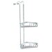 Basket Left Double Corner Shower Basket in Chrome