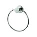 Circles Wall Mounted Towel Ring in Chrome