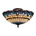Victorian Ribbon 3 Light Semi Flush Mount