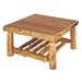 Fireside Lodge Traditional Cedar Log Coffee Table